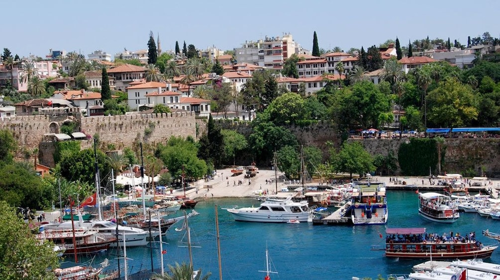 Show item 3 of 5. boats docked in a harbor in Antalya