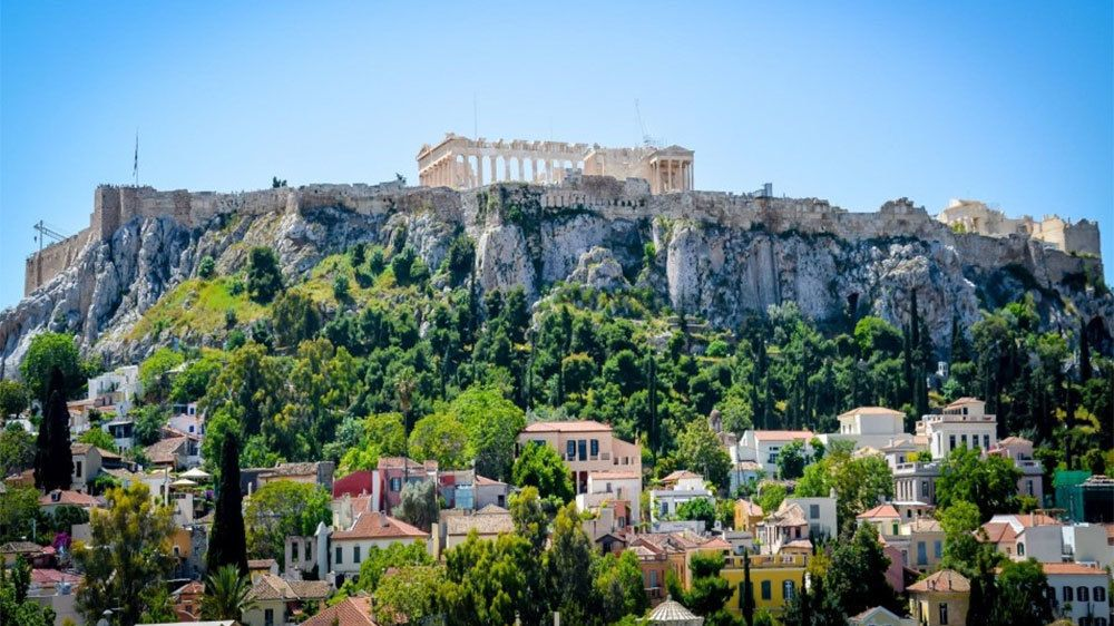 great view of the Acropolis in Athens