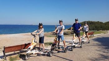 Visita por la Riviera de Atenas en triciclo eléctrico Trikke