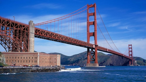 Gorgeous view of the Golden Gate Bridge in San Francisco