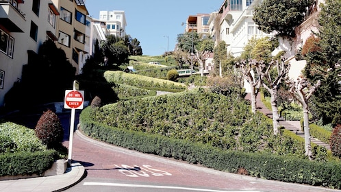 Day view of the Russian Hill's Lombard in San Francisco