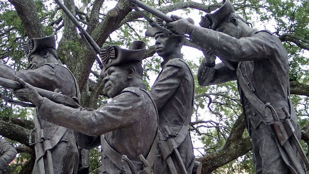 Show item 5 of 5. Statues of soldiers in Savannah