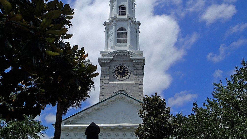 Show item 2 of 5. Building with tall white steeple in Savannah