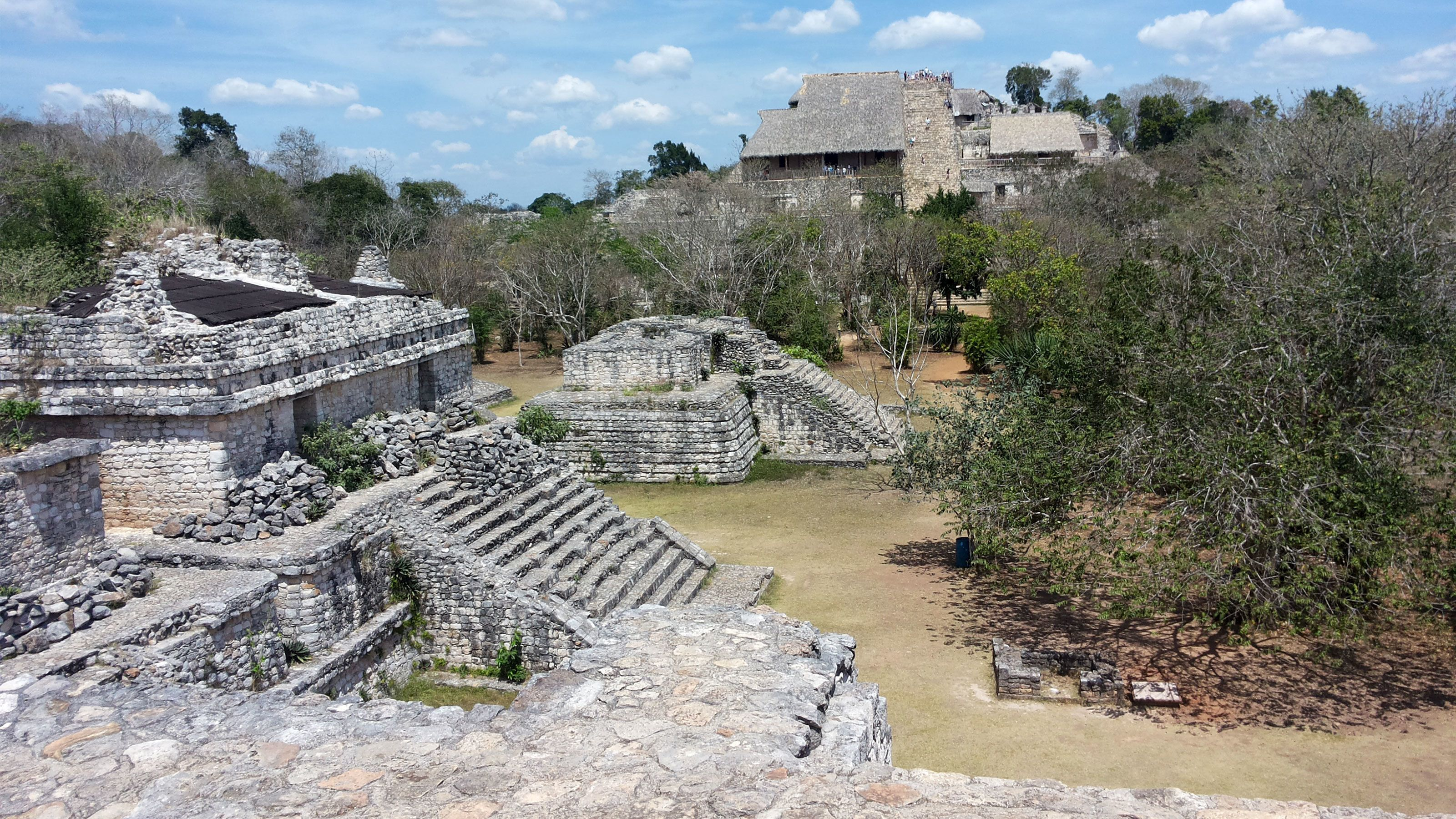 Archaeological site of the Mayan ruins of Ek' Balam