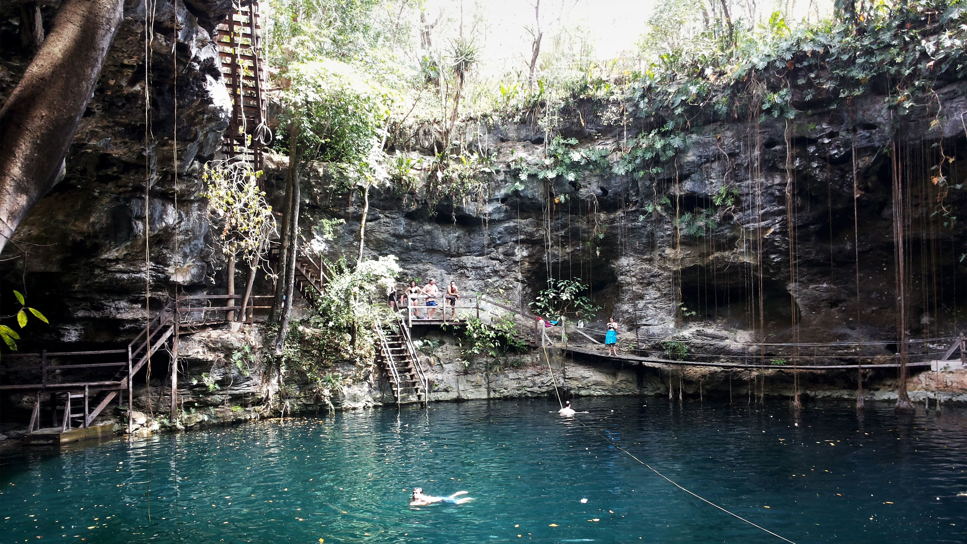 Swimming area of Cenote X'Canché