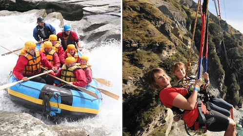 Combo activity package featuring river rafting and bungee jumping in Overshot River