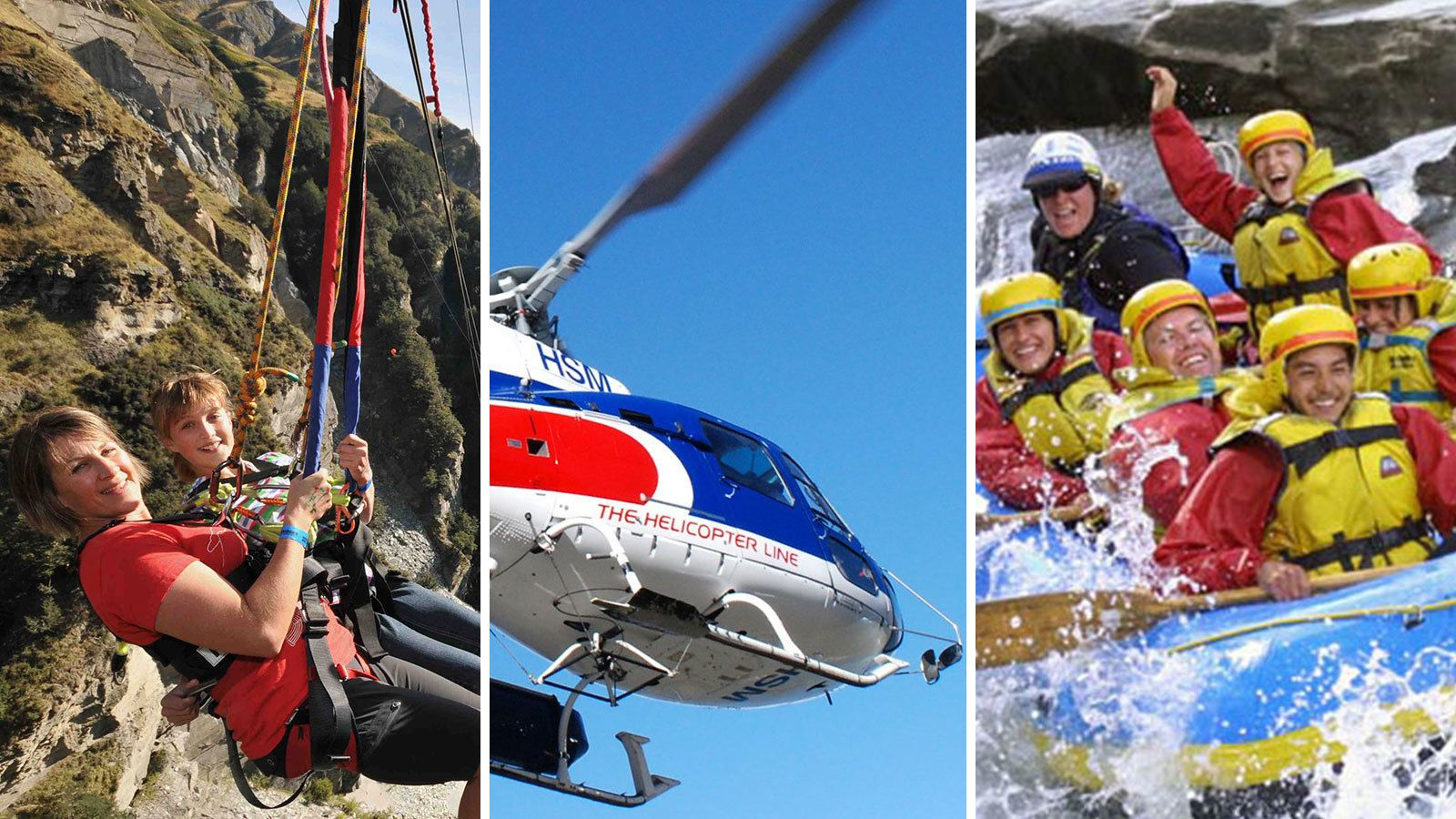 Shotover Canyon Swing, Scenic Helicopter Ride & River Rafting