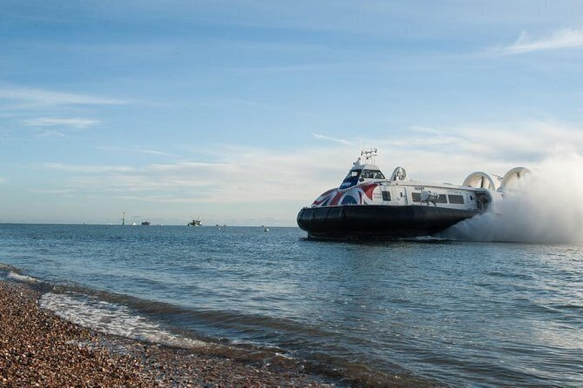 Show item 5 of 6. Hovercraft Flight to the Isle of Wight
