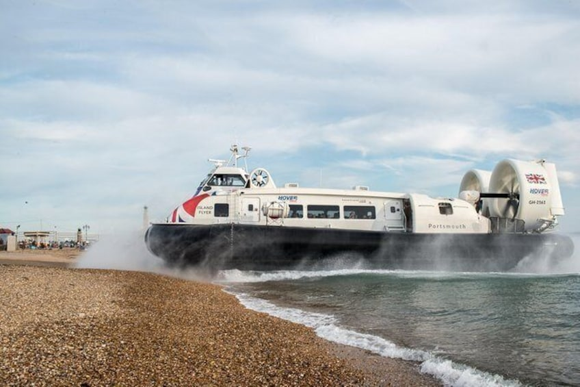 Show item 3 of 6. Hovercraft Flight to the Isle of Wight