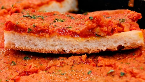 Bread with red sauce in San Diego