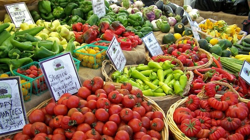 Fresh fruits and vegetables for sale in San Diego