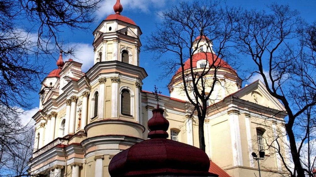 Show item 5 of 5. Building with red domed towers in Lithuania
