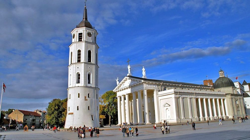 Show item 1 of 5. The bell tower of the Vilnius Cathedral in Lithuania