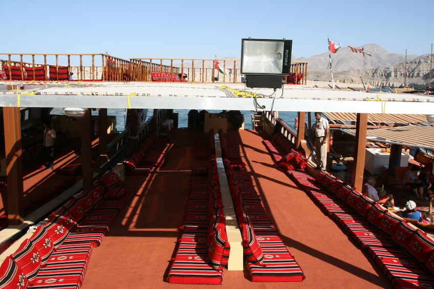 Musandam Omani Full-Day Dhow Boat Cruise from Dibba with Lunch