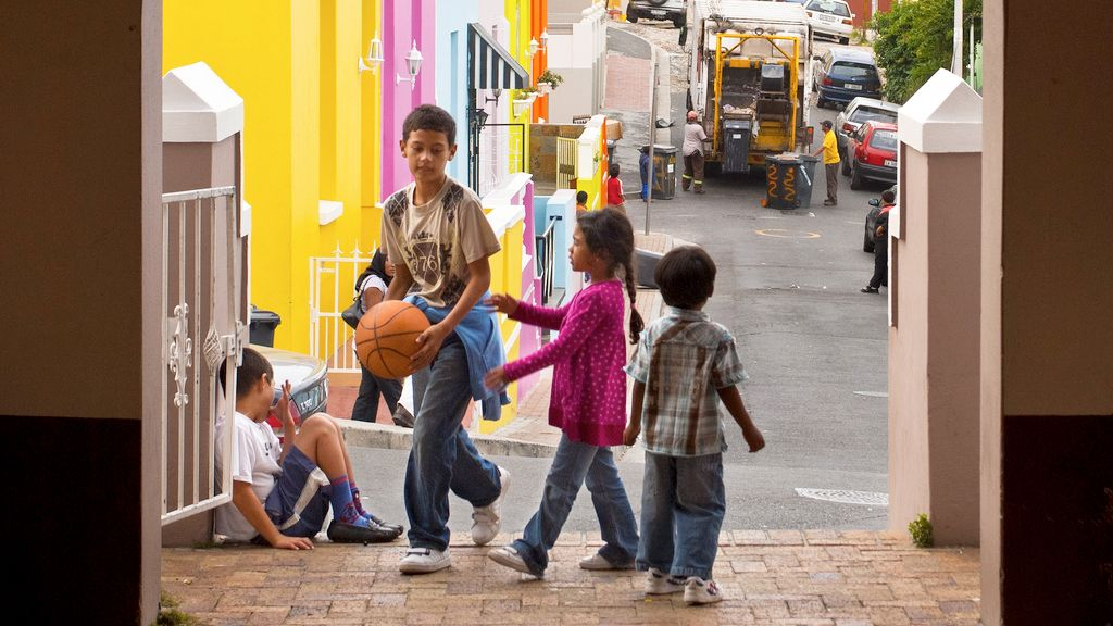 Kids play on the streets of South Africa