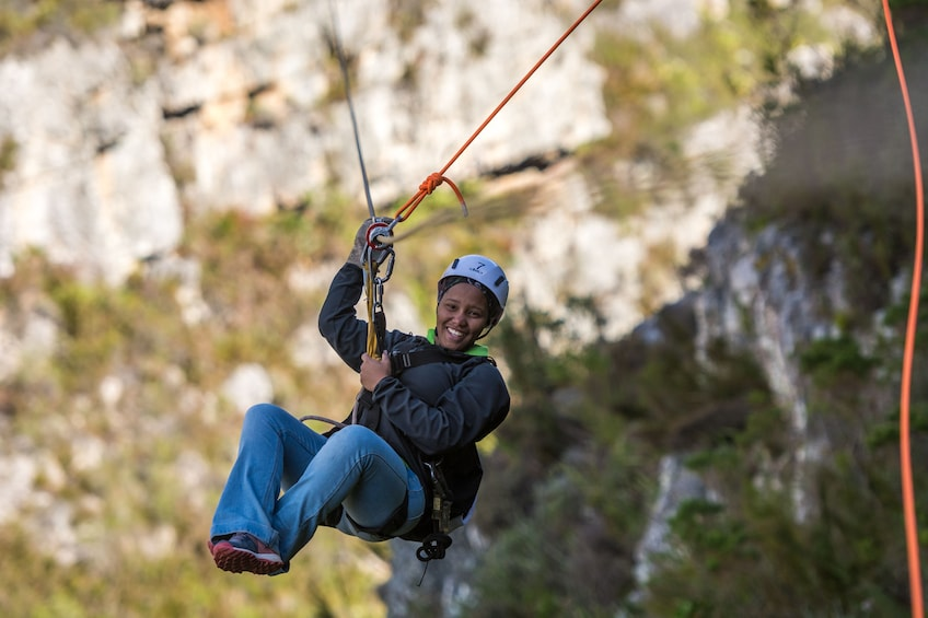 Show item 1 of 10. Cape Canopy Tour in the Hottentots Holland Nature Reserve