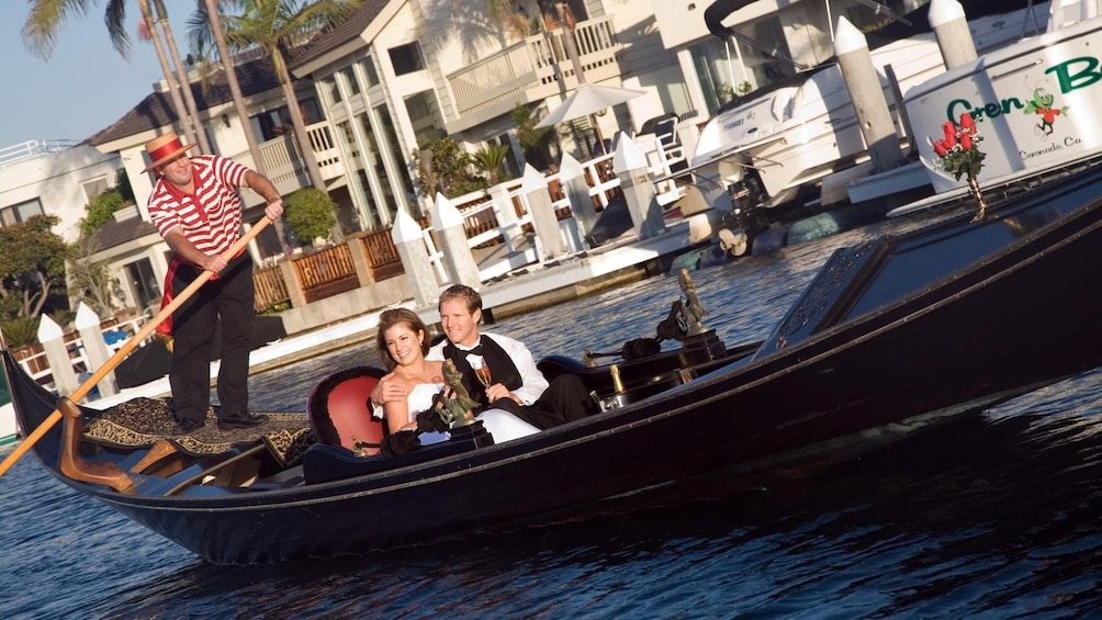 Show item 1 of 7. Couple on Gondola in San Diego