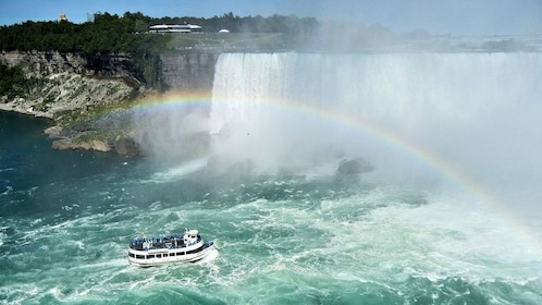 Rainbow cast upon Niagara Falls