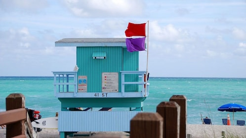 Life guard lookout on South Beach, Miami