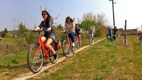 Friends tour around Amarone on bike