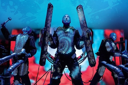 Blue Man Group performing