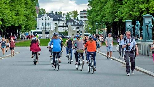 Group of bikers in Oslo