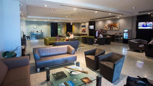 Airport lounge in Santo Domingo