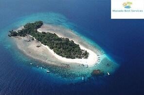Lihaga Island (white sand island) swimming twice, including lunch and ticke...