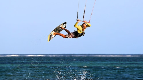 A waker kiter performing a trick in kuta