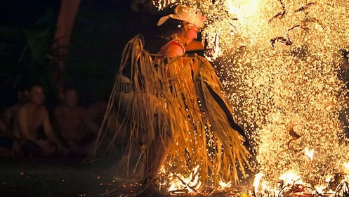 Fire dance performance in Bali