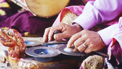 Performing traditional music in Bali