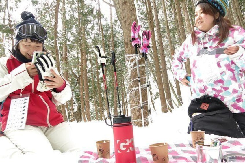 Show item 3 of 8. [5 minutes from Minakami Inter] Snow walking half-day tour enjoyed by the family