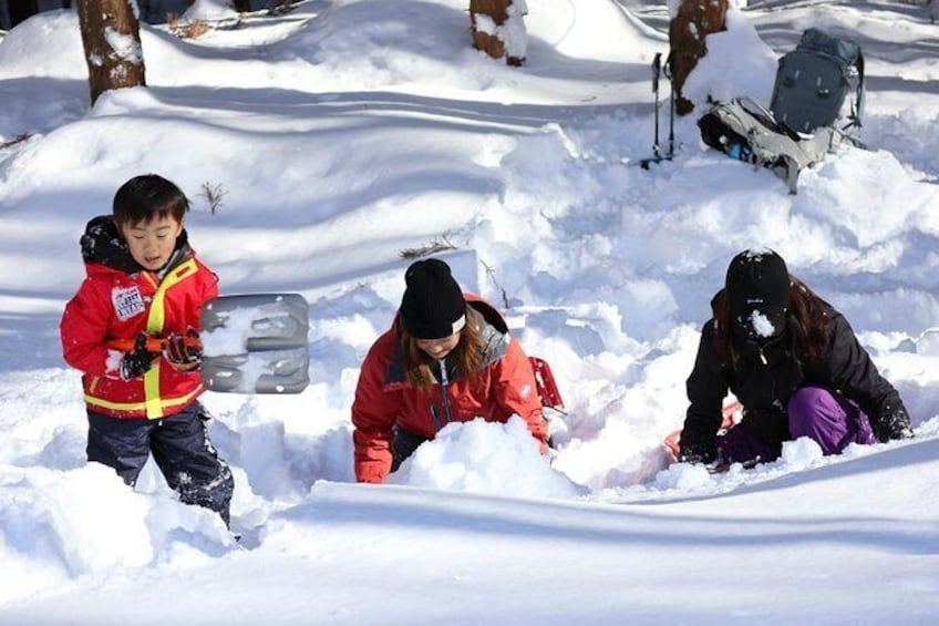 Show item 5 of 8. [5 minutes from Minakami Inter] Snow walking half-day tour enjoyed by the family