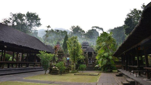 A courtyard of a temple in Bali