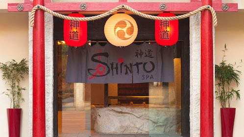 Themed entrance to the Shinto Spa in Bali