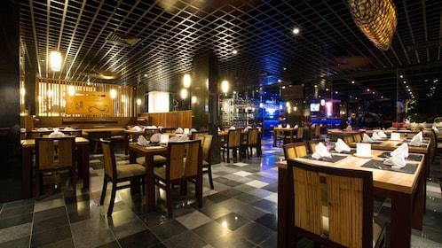 Dining room inside Yanies restaurant in Bali