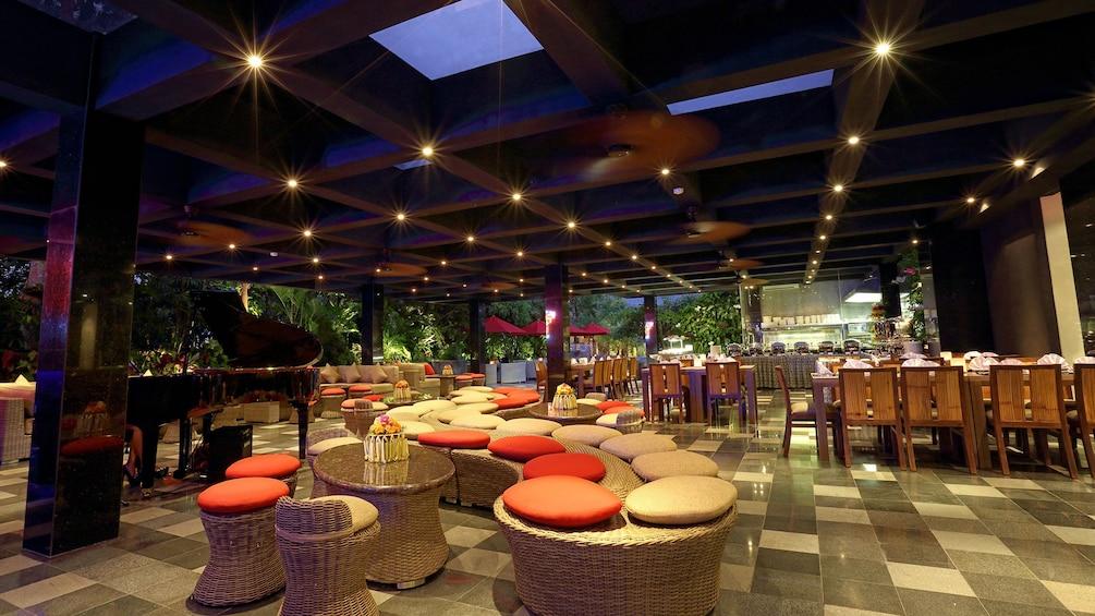Show item 5 of 5. Lounge inside Yanies restaurant in Bali