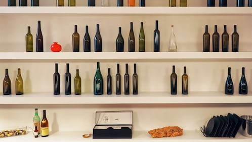Shelf lines with bottles in Rome