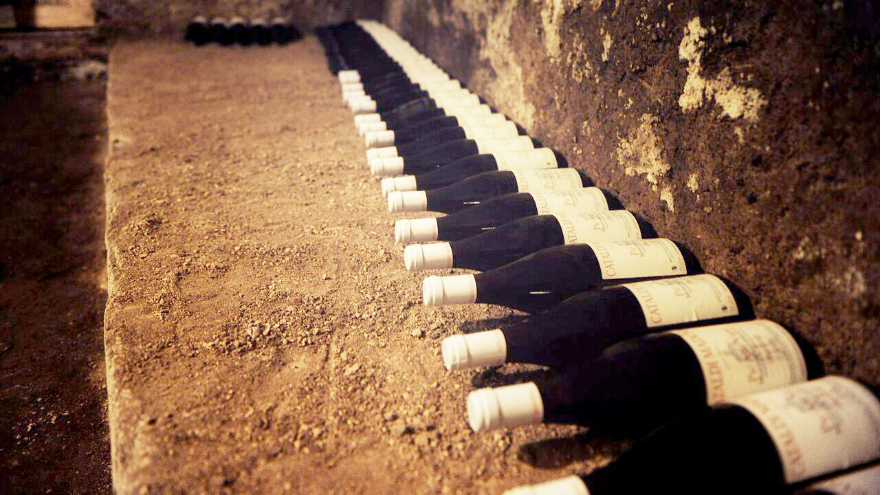 Bottles of wine in Rome