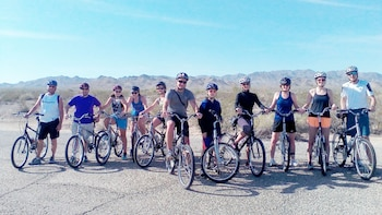 Show item 10 of 10. Bicycling group in Palm Springs