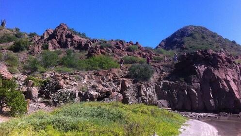 Rocky cliffs along the coast of Danzante Island
