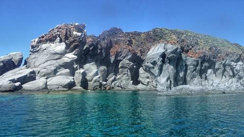 Rocky cliffs on the coast of Coronado Island
