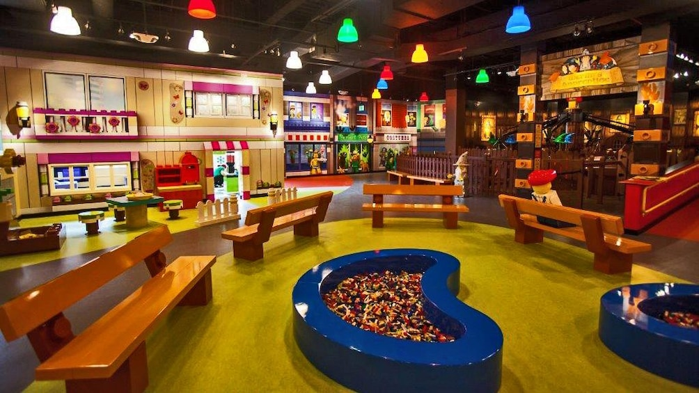 Show item 4 of 10. Interior of play area at legoland