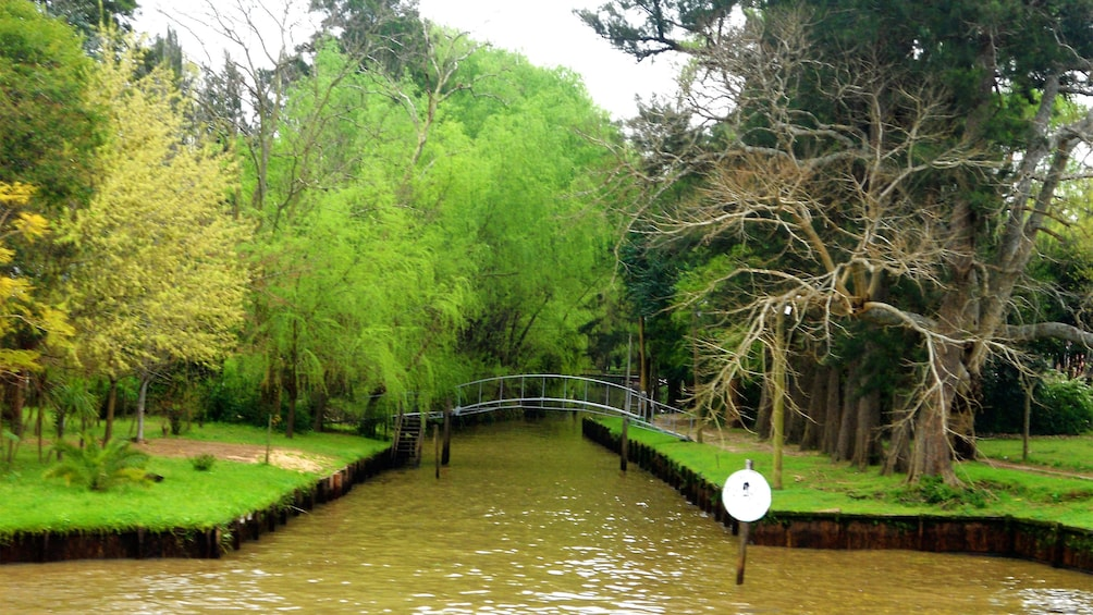 small bridge across a channel in Argentina