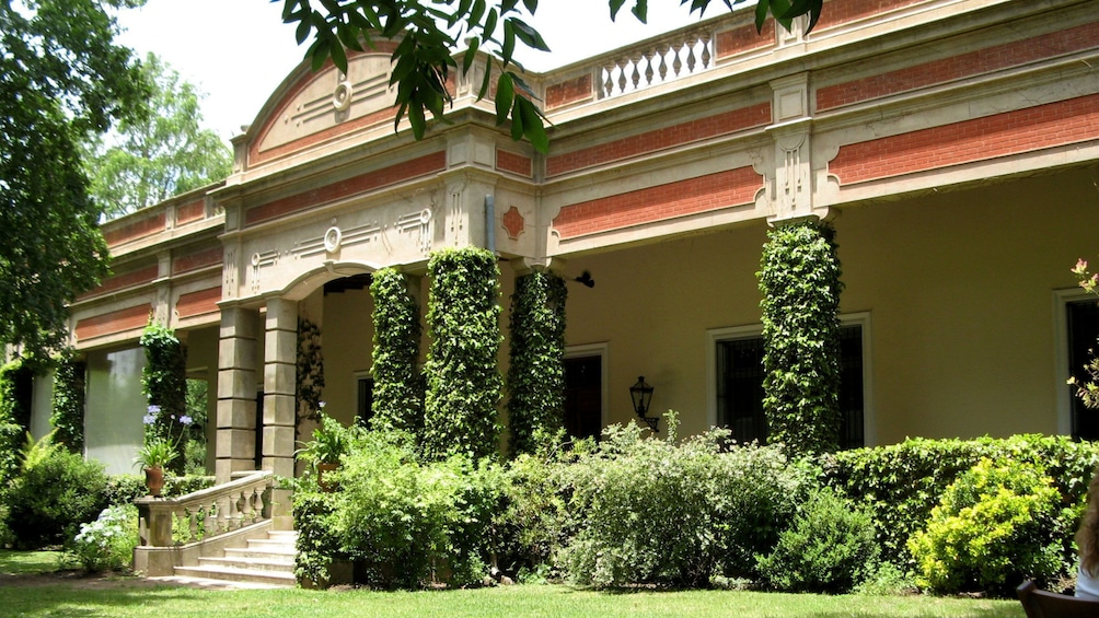 historic building covered with green vines in Argentina