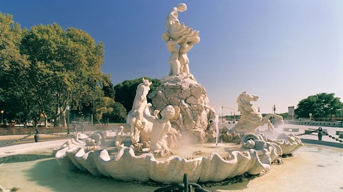 white stone sculpture water fountain in Argentina