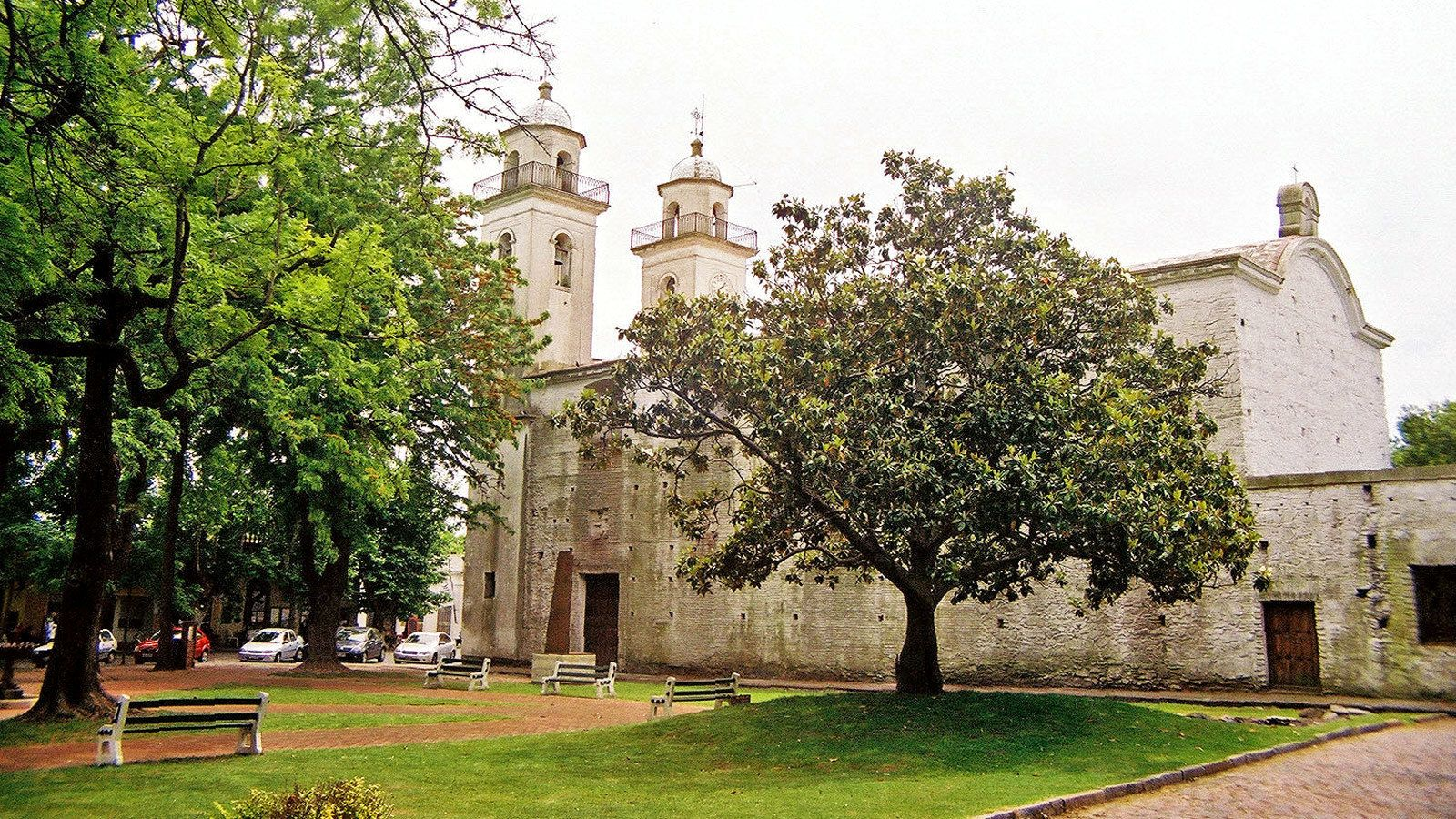 visiting an old church in Argentina