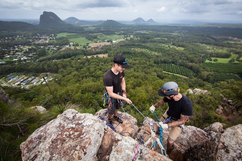 Show item 1 of 5. Glass House Mountains Abseiling Adventure