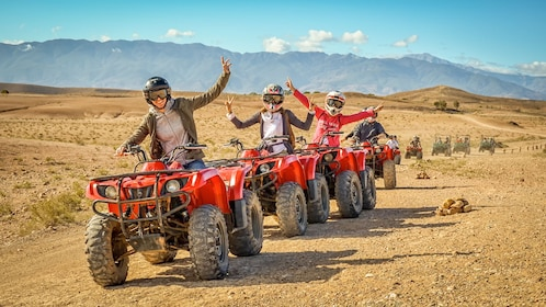 Guests on an ATV Adventure at the Agafay Desert in Morocco