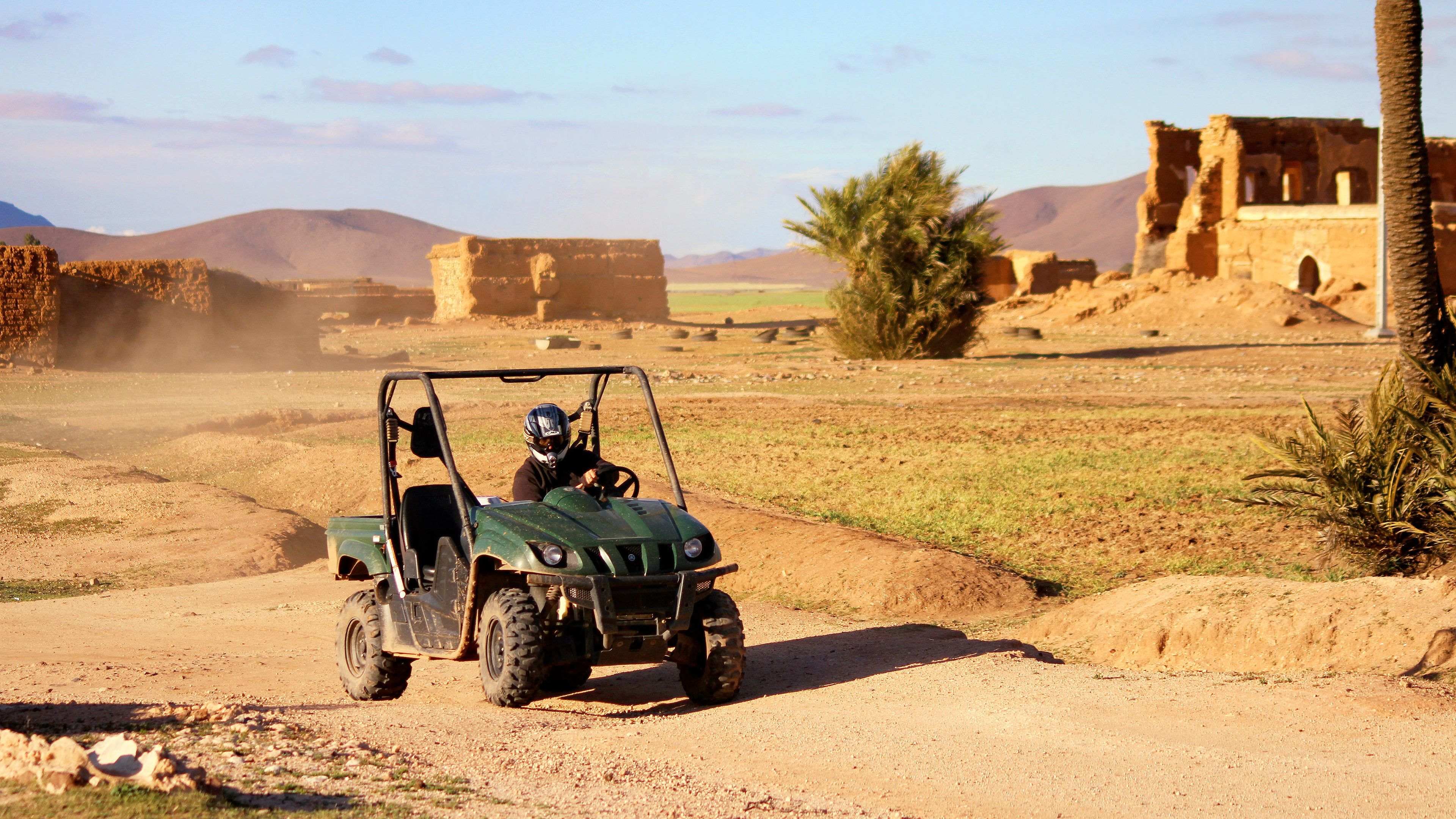 Guest on Desert Buggy Tour in Jbilets Mountains of Marrakech